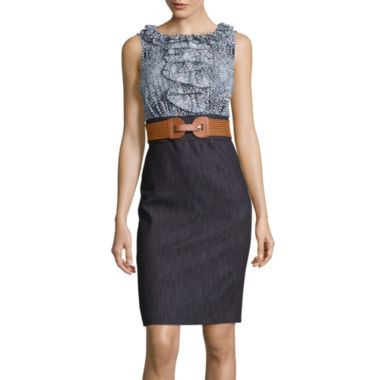 jcpenney.com | Alyx® Sleeveless Belted Sheath Dress