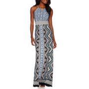 London Style Collection Sleeveless Maxi Dress