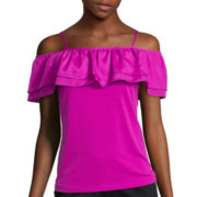Worthington® Off-The-Shoulder Ruffle Tank Top - Tall