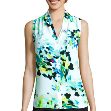 jcpenney.com | Worthington® Sleeveless High-Low Button-Front Blouse - Tall