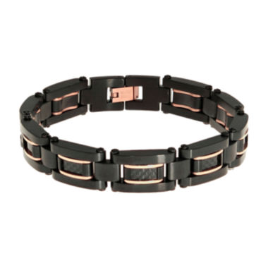 jcpenney.com | Mens Two-Tone Stainless Steel Chain Link Bracelet