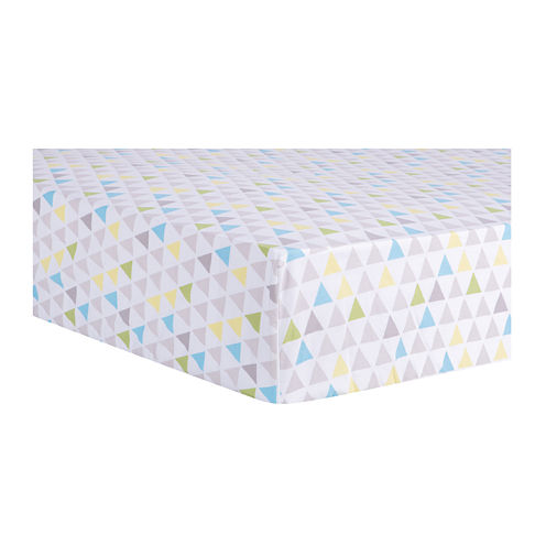 Trend Lab® Multicolor Triangles Fitted Crib Sheet