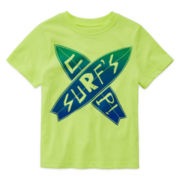Okie Dokie® Short Sleeve Graphic Tee - Toddler Boys 2t-5t