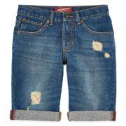 Arizona Cuffed Denim Shorts - Boys 8-20, Slim and Husky