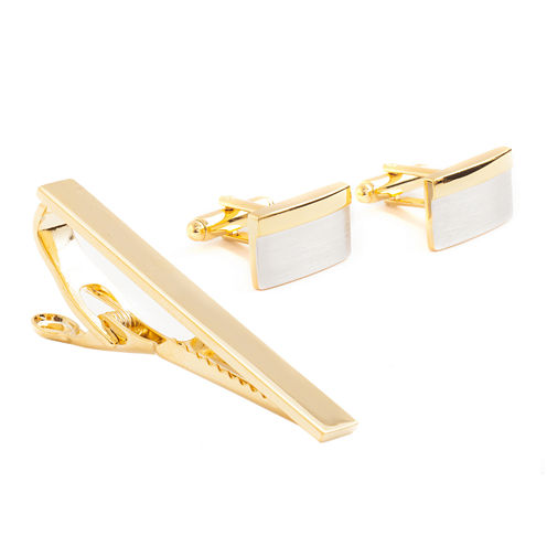 Collection by Michael Strahan Two-Tone Tie Bar and Cuff Links Set