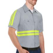 Red Kap® Short-Sleeve Enhanced Visibility Poplin Shirt