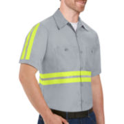 Red Kap® Short-Sleeve Enhanced Visibility Work Shirt - Big & Tall