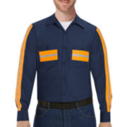Red Kap® Long-Sleeve Enhanced Visibility Industrial Work Shirt - Big & Tall