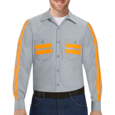 jcpenney.com | Red Kap® Enhanced Visibility Work Shirt - Big & Tall