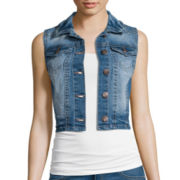 Wallflower Button-Front Denim Vest