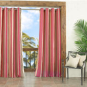 Parasol Windley Key Stripe Indoor/Outdoor Grommet-Top Curtain Panel