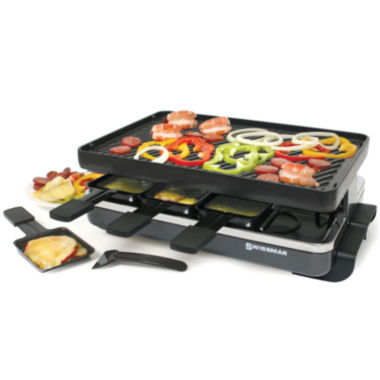jcpenney.com | Swissmar 8-Person Classic Black Raclette Reversible Cast Iron Party Grill
