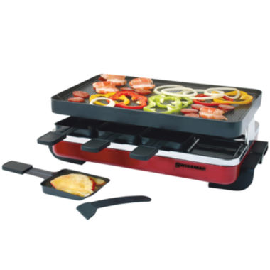 jcpenney.com | Swissmar 8-Person Classic Red Raclette Reversible Nonstick Party Grill