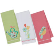 Design Imports Flower Garden Set of 3 Kitchen Towels