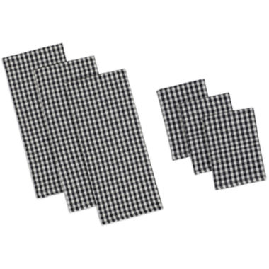 jcpenney.com | Design Imports Black Check Heavyweight Set of 3 Kitchen Towels and Dishcloths