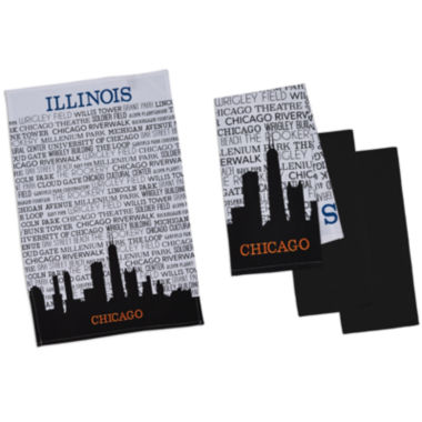 jcpenney.com | Design Imports Chicago Set of 4 Kitchen Towels
