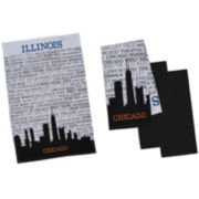 Design Imports Chicago Set of 4 Kitchen Towels