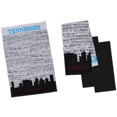 jcpenney.com | Design Imports Nashville Set of 4 Kitchen Towels