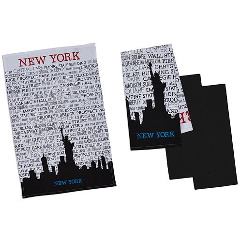 Design Imports New York Set of 4 Kitchen Towels