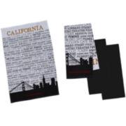 Design Imports San Francisco Set of 4 Kitchen Towels