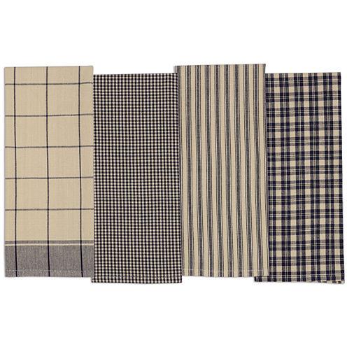 Design Imports Navy Set of 4 Kitchen Towels