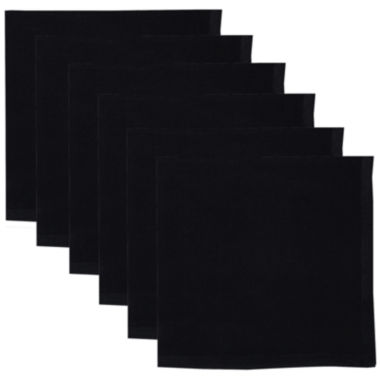 jcpenney.com | Design Imports Set of 6 Black Napkins