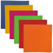 Design Imports Primary Colors Set of 6 Napkins