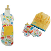 Design Imports Zoo Kids Apron and Chef Gift Set