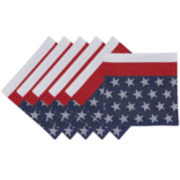 Design Imports Flag Stripe Jacquard Set of 6 Napkins