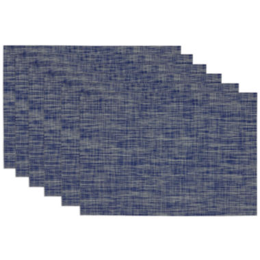 jcpenney.com | Design Imports Nautical Blue Tonal Set of 6 Tweed Placemats