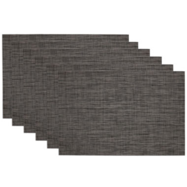 jcpenney.com | Design Imports Grey Tonal Tweed Set of 6 Placemats