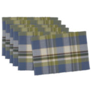 Design Imports Lake House Plaid Set of 6 Placemats