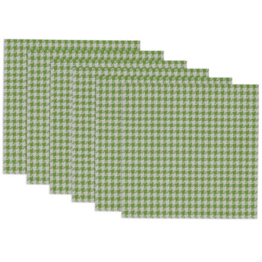 jcpenney.com | Design Imports Lime Zest and White Houndstooth Set of 6 Placemats