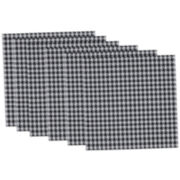 Design Imports Houndstooth Set of 6 Placemats