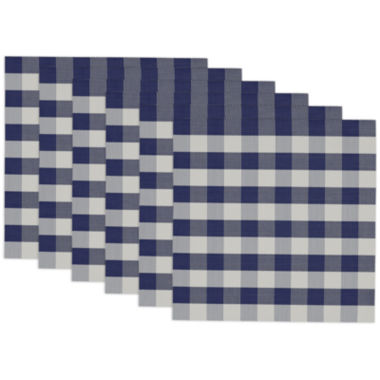 jcpenney.com | Design Imports Blue and White Checkers Set of 6 Placemats