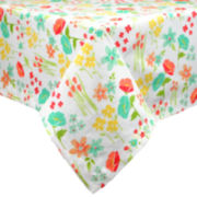 Design Imports April Flowers Print Tablecloth
