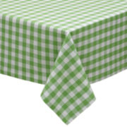 Design Imports Green Apple Check Tablecloth