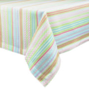 Design Imports Easter Zigzag Stripe Tablecloth