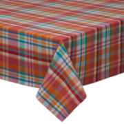 Design Imports Malibu Madras Plaid Tablecloth