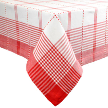 jcpenney.com | Design Imports Radish Plaid Tablecloth