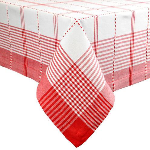 Design Imports Radish Plaid Tablecloth