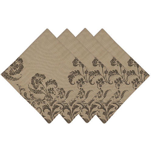 Design Imports French Scroll Set of 4 Napkins