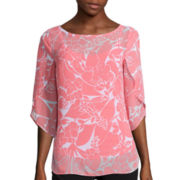 Worthington® Tulip Sleeve Blouse