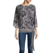 i jeans by Buffalo 3/4-Sleeve Paisley Kimono Top