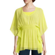 Bisou Bisou® V-Neck Smocked Top