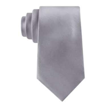 jcpenney.com | Stafford® Solid Silk Tie - Extra Long