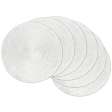 jcpenney.com | Design Imports Woven Metallic Set of 6 Round Placemats