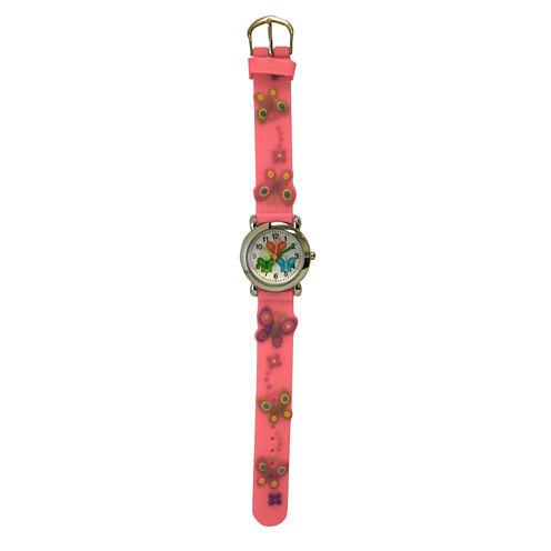Olivia Pratt Kids Pink Butterfly Strap Watch-17175