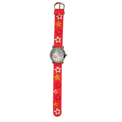 Olivia Pratt Flower Unisex Pink Strap Watch-17189