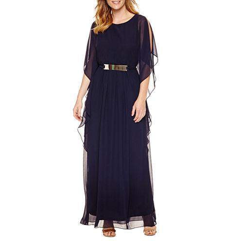 Melrose Short Sleeve Evening Gown
